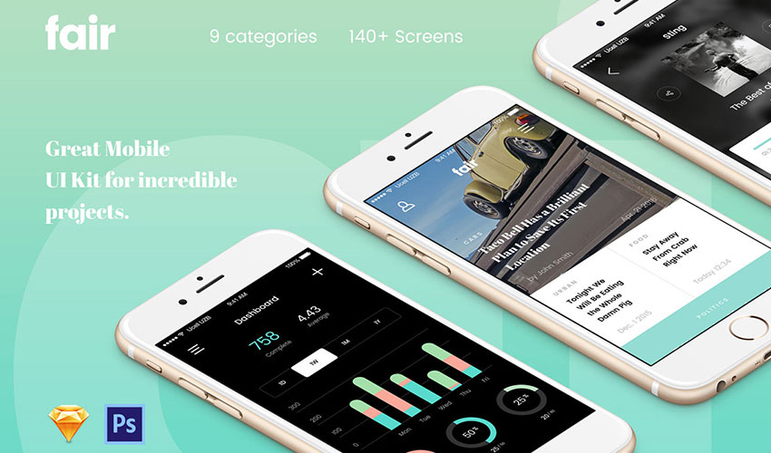 Envato Elements Mobile UI Kit