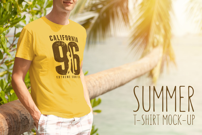 Summer T-Shirt Mockup on Envato Elements