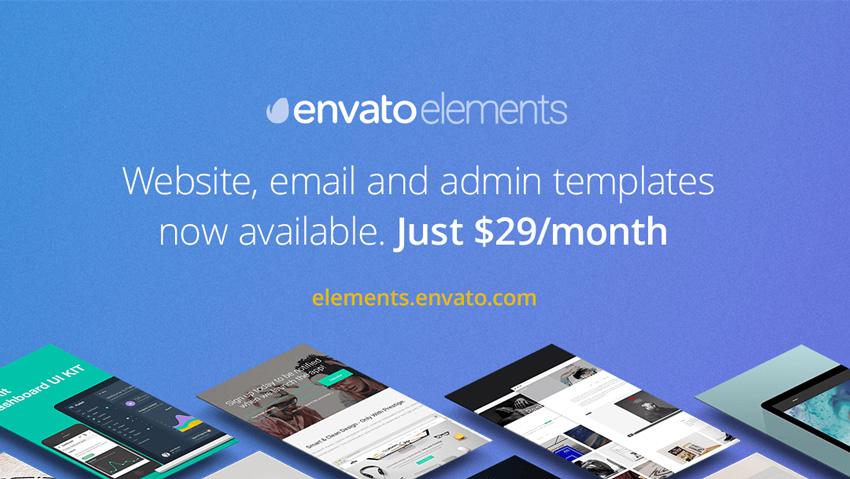 Envato Elements website templates now available