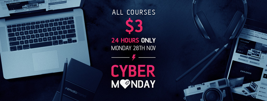 All Courses Reduced to $3 for CyberMonday!