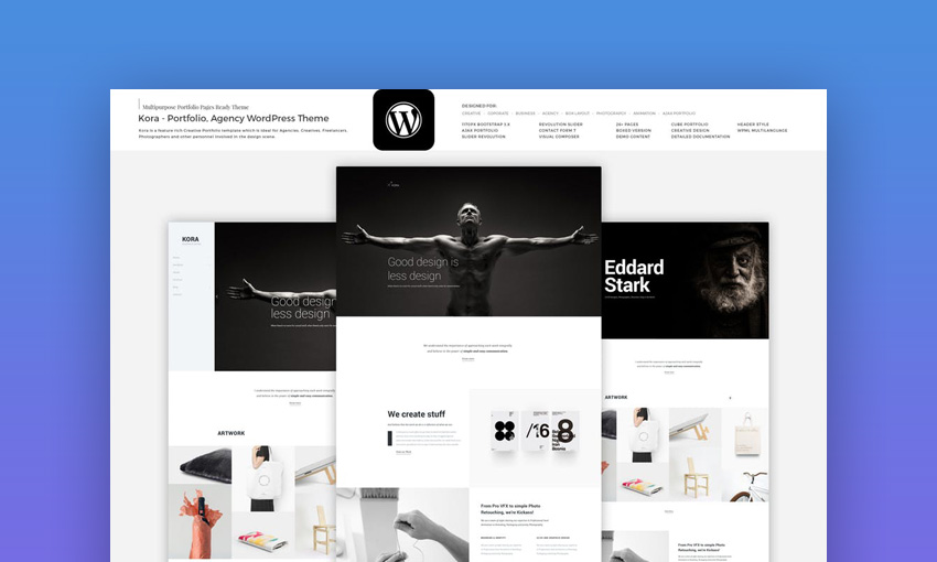 Kora - Portfolio Agency WordPress Theme