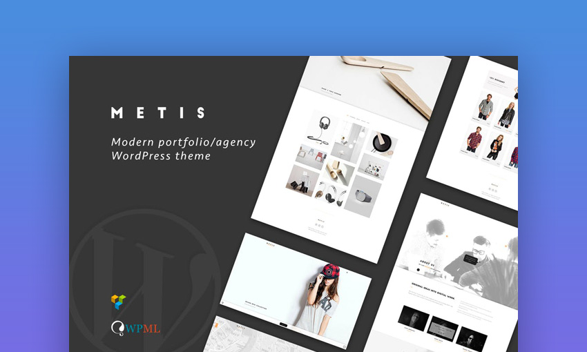 Metis - Portfolio  Agency WordPress Theme