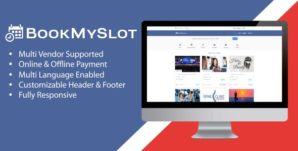 Quick list of the features of BookMySlot with demo install