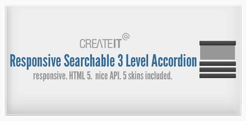 Responsive Searchable 3 Level Accordion