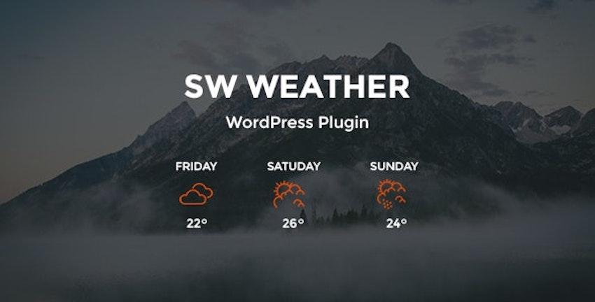 SW Weather WordPress Plugin