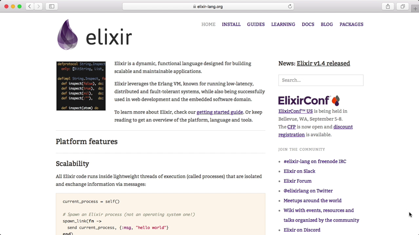 Elixir website