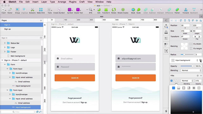 Sketch app screenshot