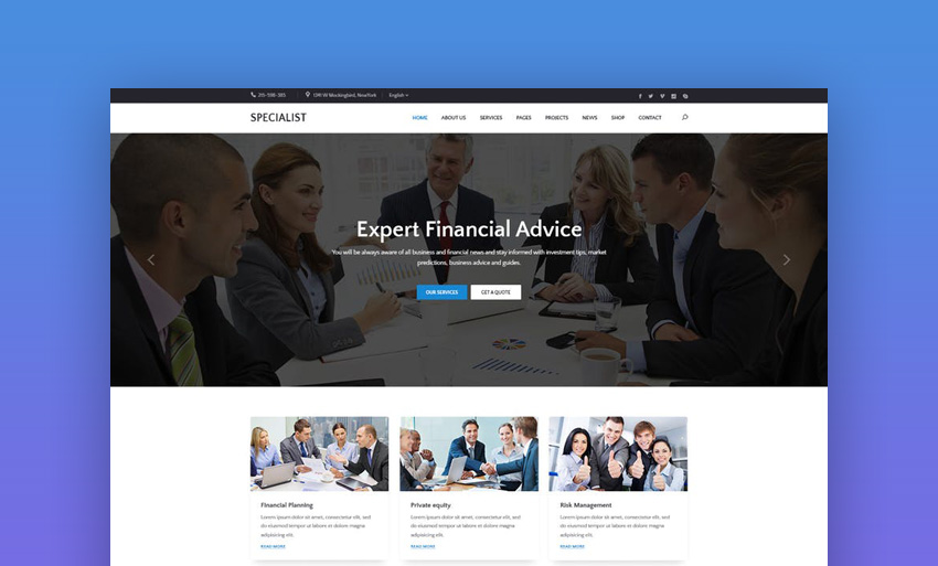 Specal - Financial Consulting WordPress Theme