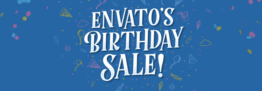 Welcome to a Week of Discounts in Envato's Birthday Sale!