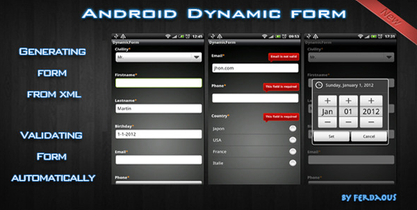 Android Dynamic Form