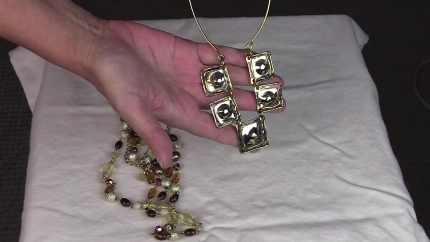 Example of bulky jewelry that would be distracting on video