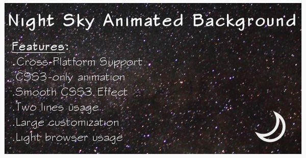 Night Sky Animated Background on Envato Market