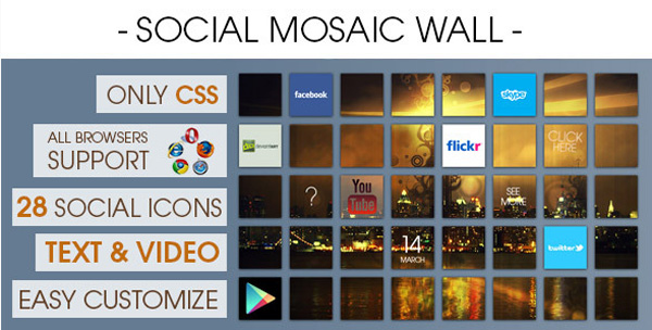 Social Mosaic Wall on Envato Market