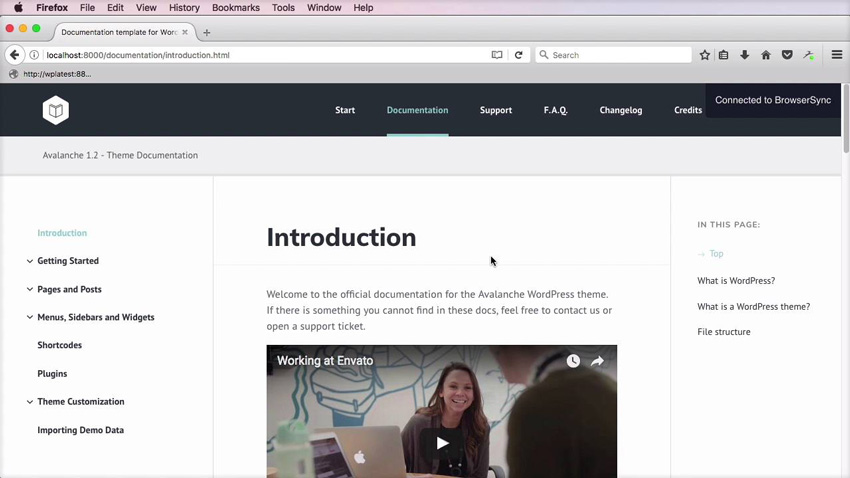 New Course: Building a WordPress Theme Documentation Template