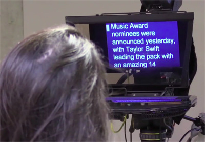 Teleprompter preview