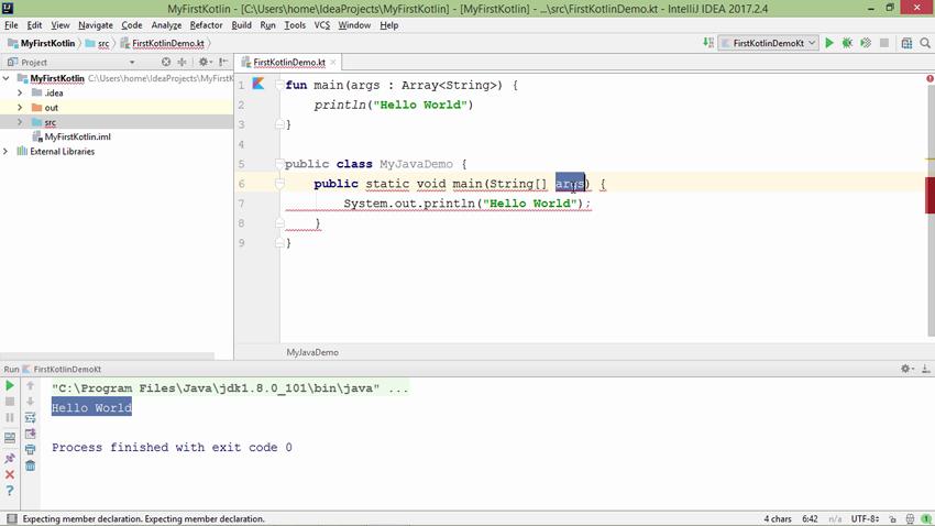 Screenshot from Kotlin Fundamentals