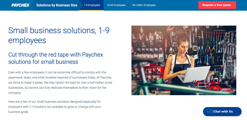 Paychex website