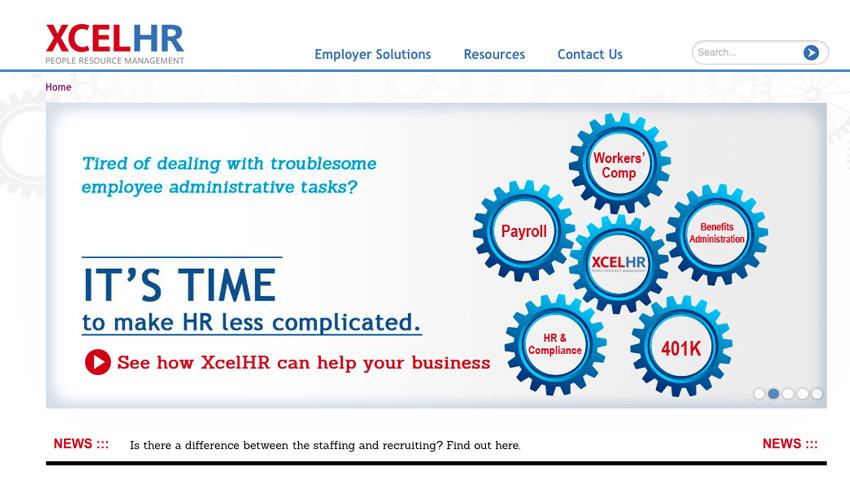 XcelHR website