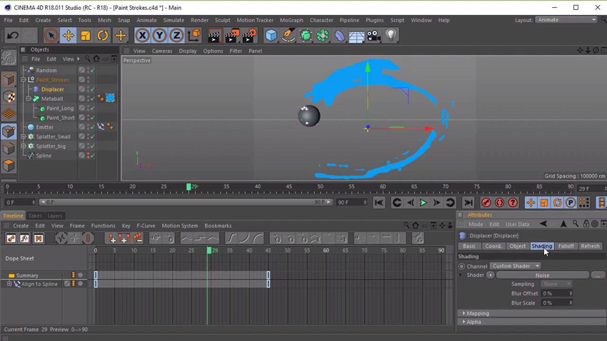 New Course: Animating Paint Strokes With Cinema4D