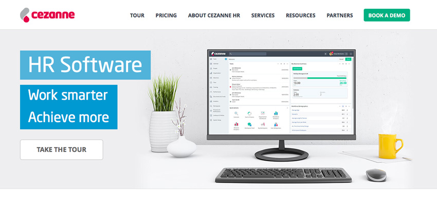 Cezanne HR Software website