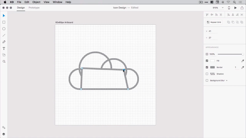 How to Create a Cloud Icon in AdobeXD