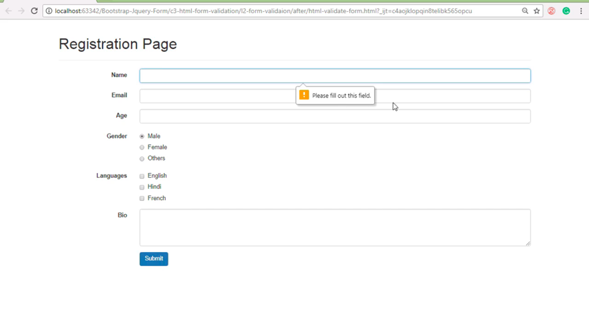 Html5bootstrapjqueryform Validation Final Product Image