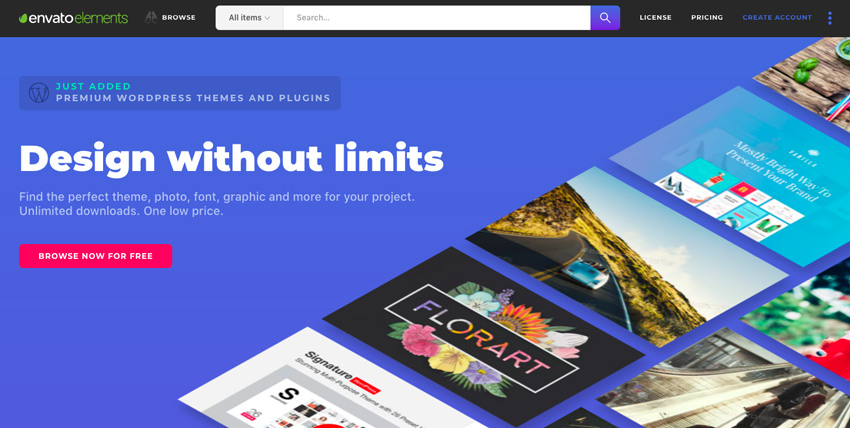Envato Elements homepage