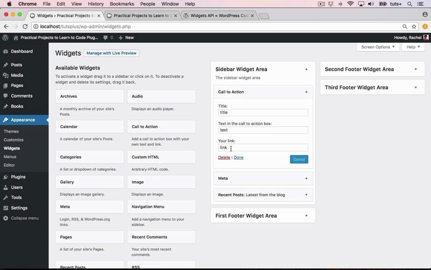 Widget plugin view in WordPress