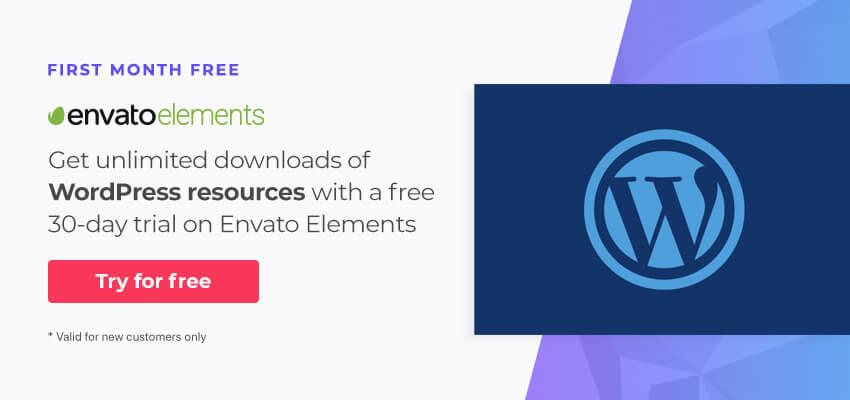 Free WordPress resources on Envato Elements