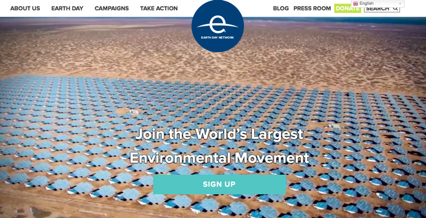 Earth Day website