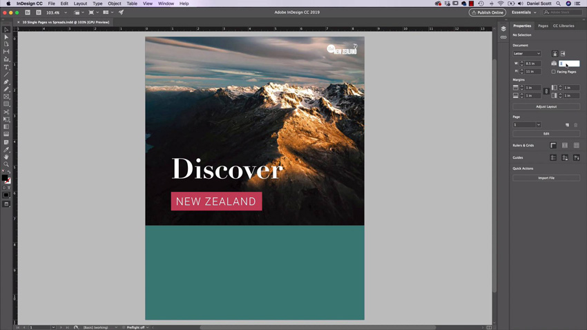 designing a brochure in Adobe InDesign