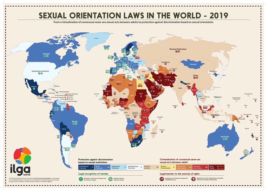 ILGA State-Sponsored Homophobia Map 2019