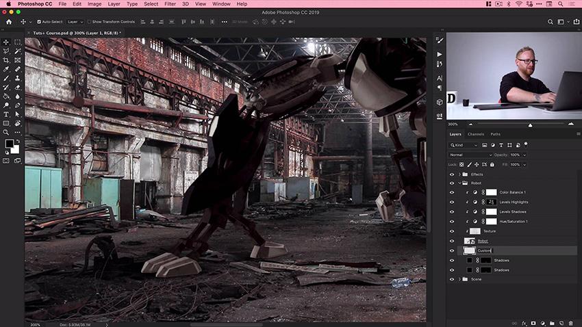Photo manipulation in Adobe Photoshop
