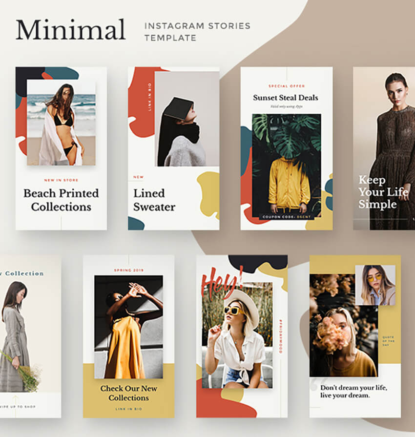 Miminal Instagram Stories Template