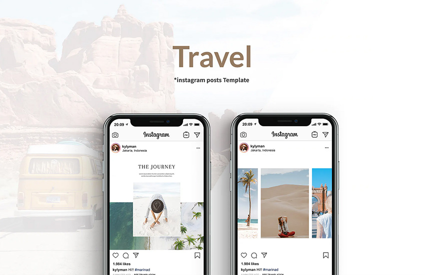 Travel Instagram Posts Template