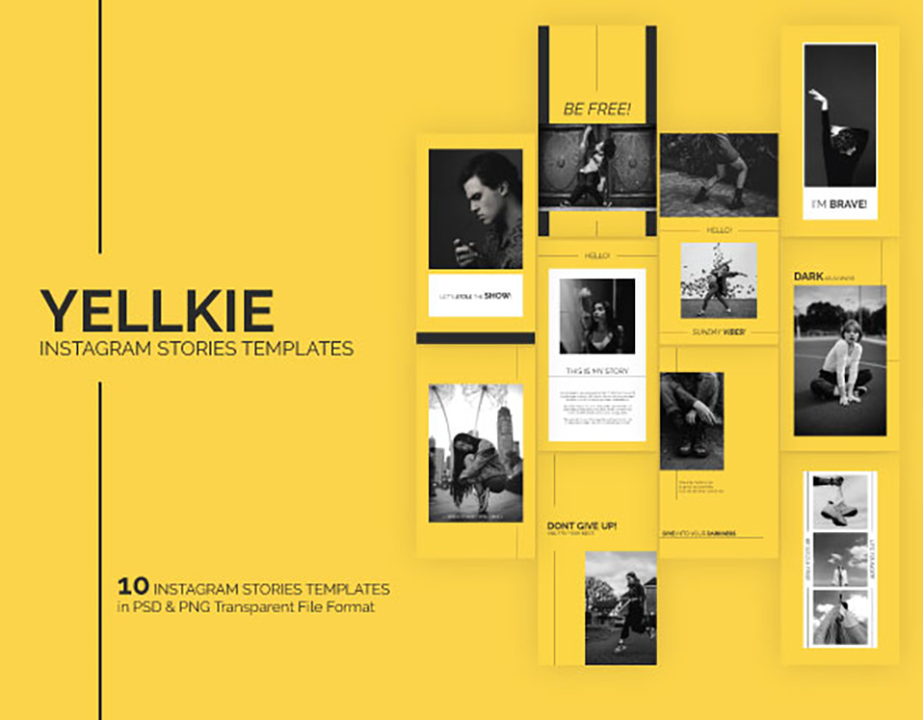 Yellkie Instagram Stories Templates