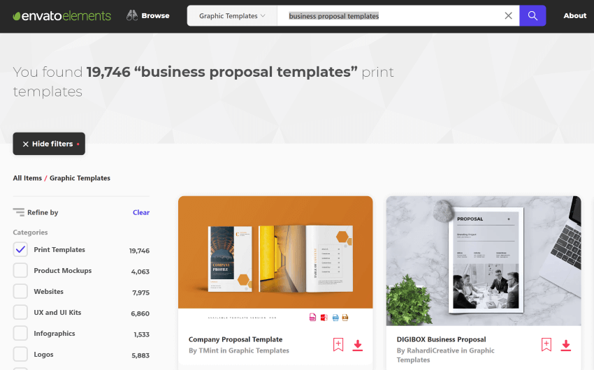 Find the best Word business proposal templates on Envato Elements