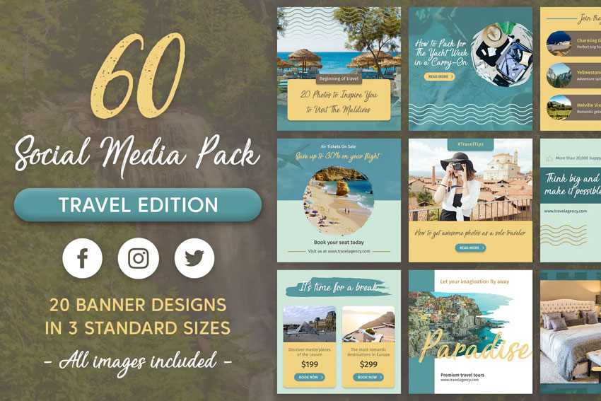 Travel Social Media Banner Pack