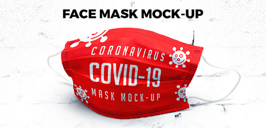Fabric Mask Mockup PSD