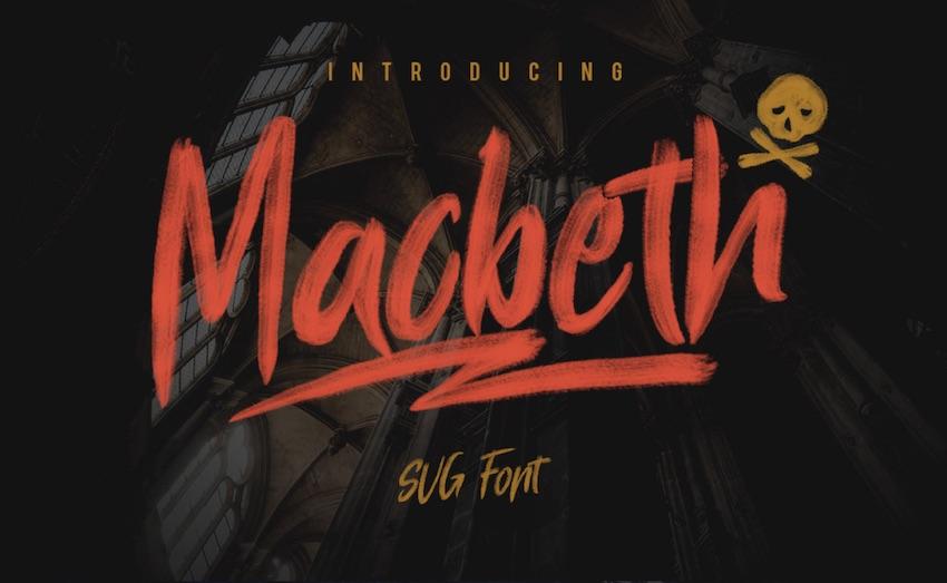 Macbeth Free SVG Font
