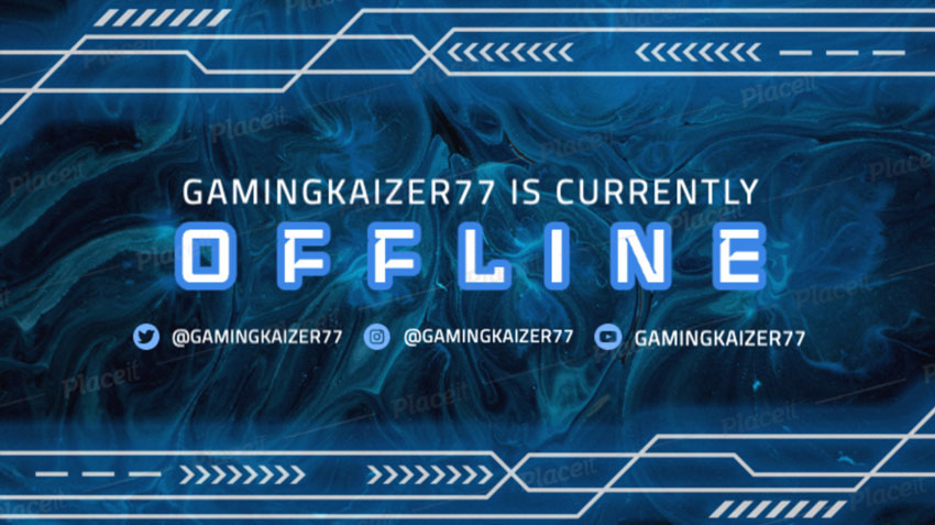 Twitch Offline Banner with a Technological Vibe