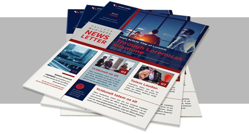 Modern realtor newsletter template