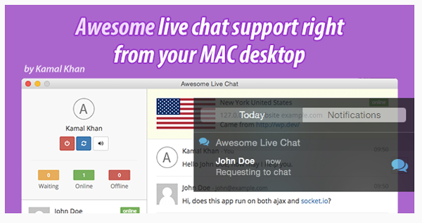 Live chat support for Mac