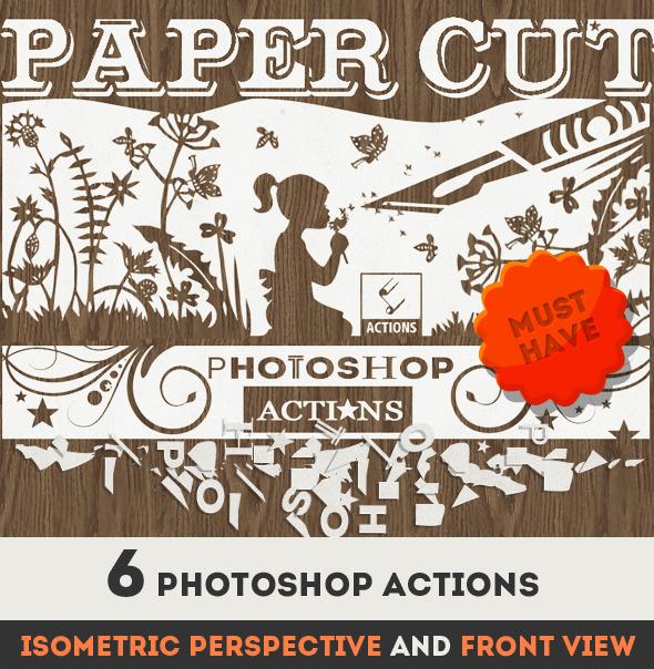 Paper Cut Art Photoshop Action on Envato Market