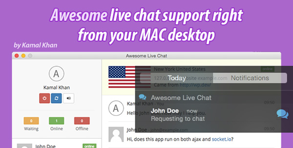 Awesome Live Chat Desk OS X on Envato Market