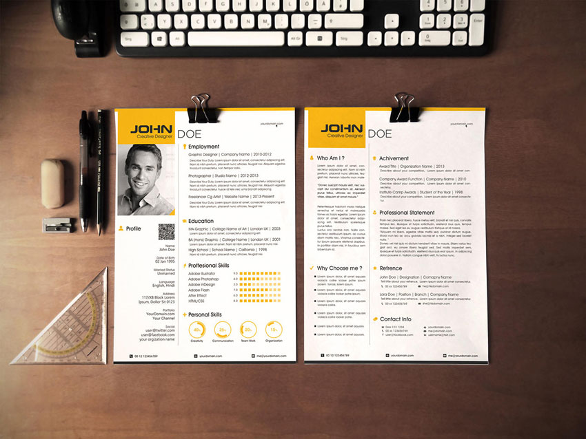 5 Examples of Beautiful ResumeCV Web Templates – Resume Website Example