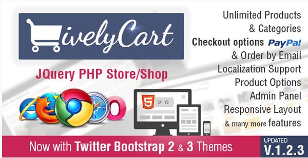LivelyCart - a JQuery PHP Store  Shop on Envato Market
