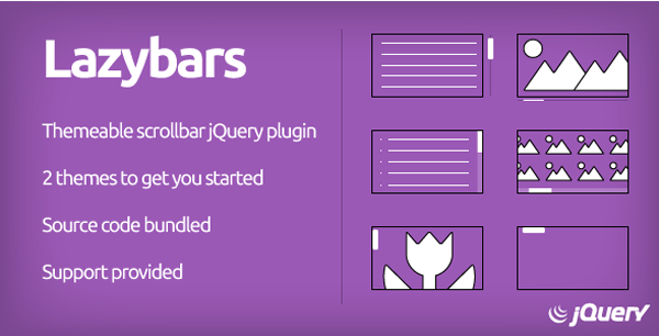 Lazybars - Themeable responsive scrollbar jQuery plugin