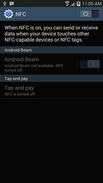 NFC Settings UI