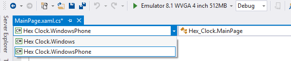 Context switcher in the editor